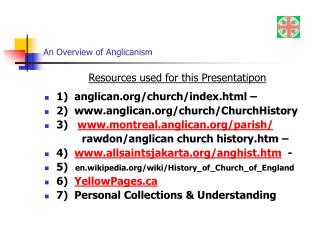 An Overview of Anglicanism