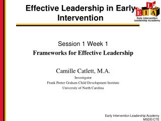 Effective Leadership in Early Intervention