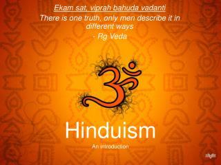 Hinduism An introduction