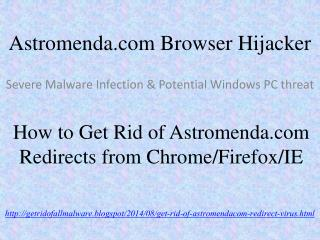 How to Remove Astromenda.com (Astromenda Search) from IE/FF/