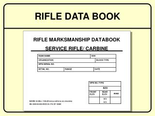 RIFLE DATA BOOK