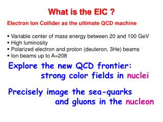 What is the EIC ?