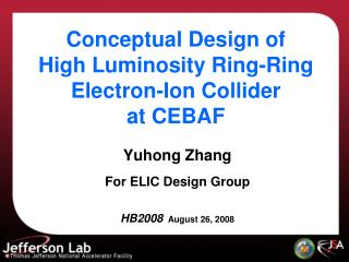 Conceptual Design of  High Luminosity Ring-Ring Electron-Ion Collider  at CEBAF