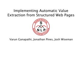 Implementing Automatic Value Extraction from Structured Web Pages