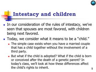 Intestacy and children