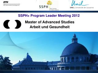 SSPH+ Program Leader Meeting 2012
