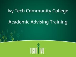 Academic Advising Training