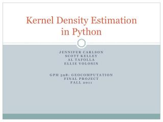 Kernel Density Estimation in Python