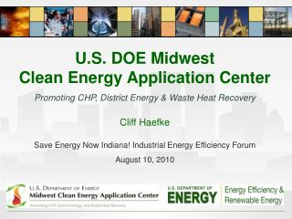 U.S. DOE Midwest                         Clean Energy Application Center