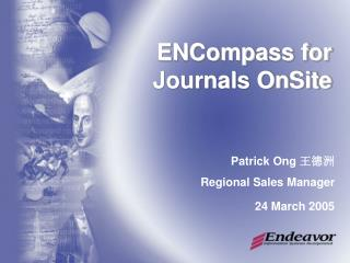 ENCompass for Journals OnSite