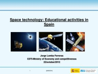 Space technology :  Educational activities  in  Spain