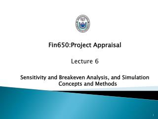 Fin650:Project Appraisal Lecture 6