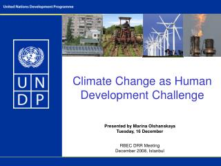 Climate Change as Human Development Challenge