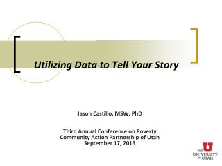 Utilizing Data to Tell Your Story