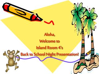 Aloha,  Welcome to   Island Room 4's  Back to School Night Presentation!