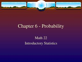 Chapter 6 - Probability