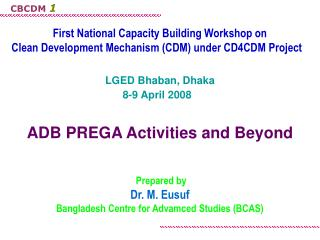 First National Capacity Building Workshop on