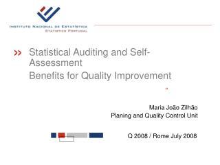 Maria João Zilhão Planing and Quality Control Unit