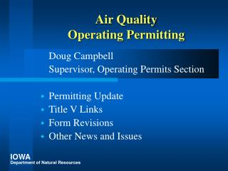 Air Quality Operating Permitting