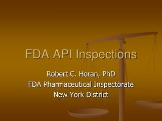 FDA API Inspections