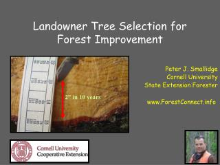 Landowner Tree Selection for Forest Improvement