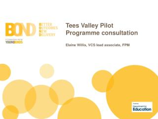 Tees Valley Pilot Programme  consultation