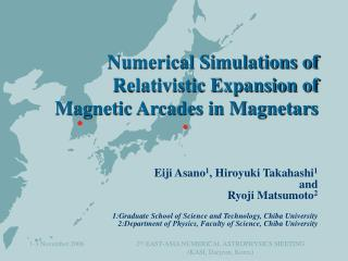 Numerical Simulations of Relativistic Expansion of  Magnetic Arcades in Magnetars