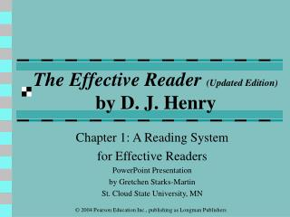 The Effective Reader (Updated Edition) by D. J. Henry