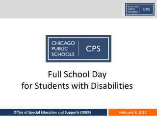 Full School Day  for Students with Disabilities