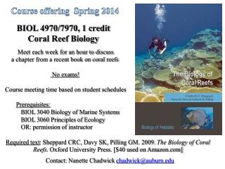 Course offering  Spring 2014