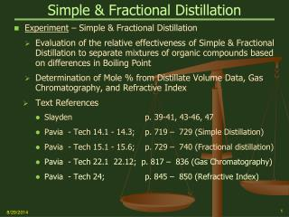 Simple & Fractional Distillation