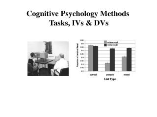 Cognitive Psychology Methods  Tasks, IVs & DVs
