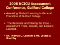 2008 NCICU Assessment Conference, Guilford College