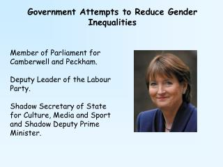 Government Attempts to Reduce Gender Inequalities
