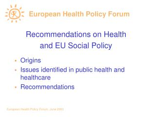 European Health Policy Forum