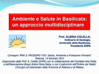 Ambiente e Salute in Basilicata:  un approccio multidisciplinare