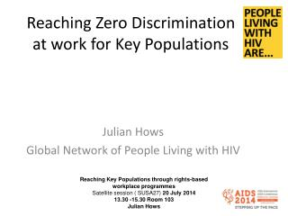 Reaching Zero Discrimination at work for Key Populations