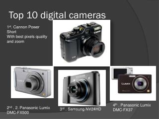 To 10 latest digtal cameras