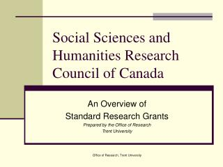 Social Sciences and Humanities Research Council of Canada