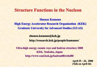 Structure Functions in the Nucleon