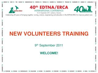 NEW VOLUNTEERS TRAINING