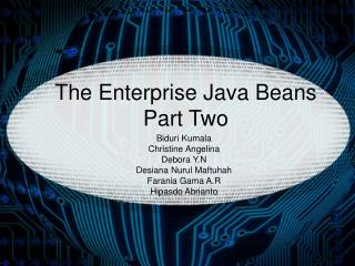 The Enterprise Java Beans Part Two