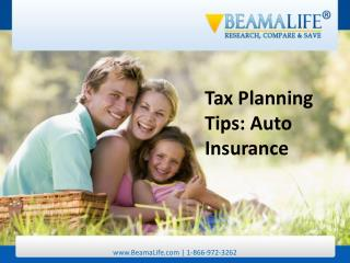 tax planning tips auto insurance