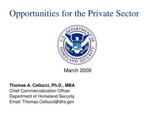 Opportunities for the Private Sector