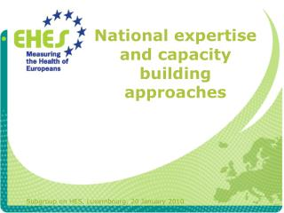 National expertise and capacity building approaches