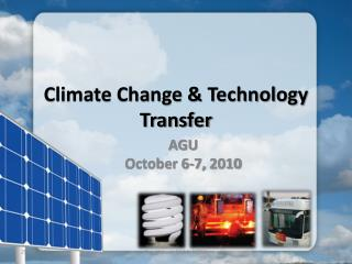 Climate Change & Technology Transfer
