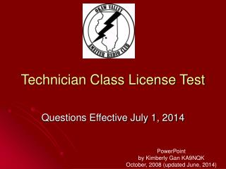 Technician Class License Test