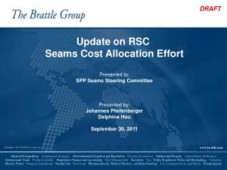 Update on RSC  Seams Cost Allocation Effort Presented to: SPP Seams Steering Committee