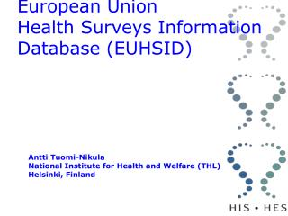 European Union  Health Surveys Information Database (EUHSID)