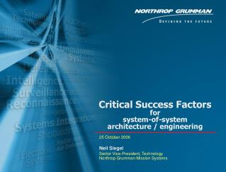 Critical Success Factors  for  system-of-system architecture / engineering